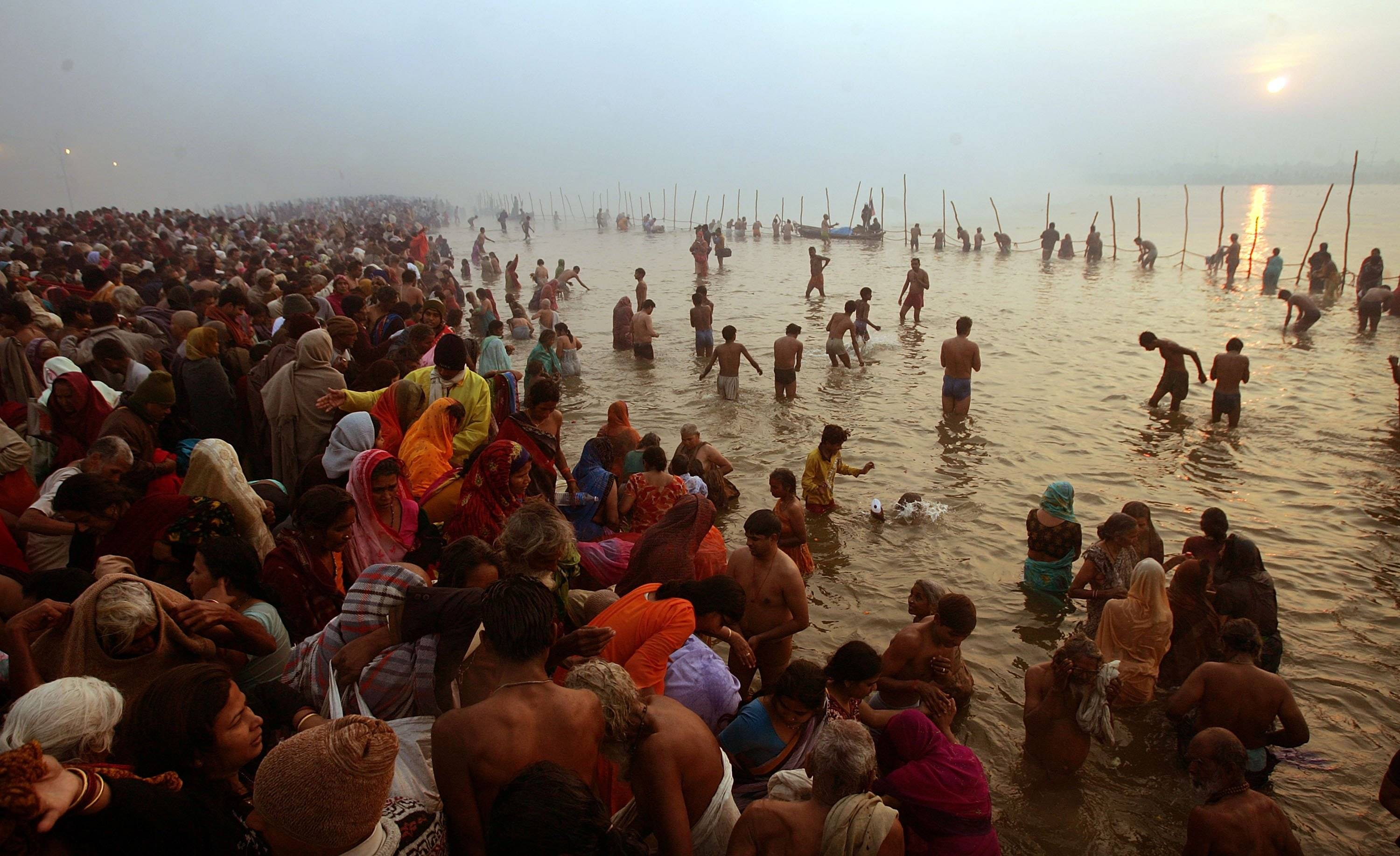 Hindus Gather At Sacred Rivers