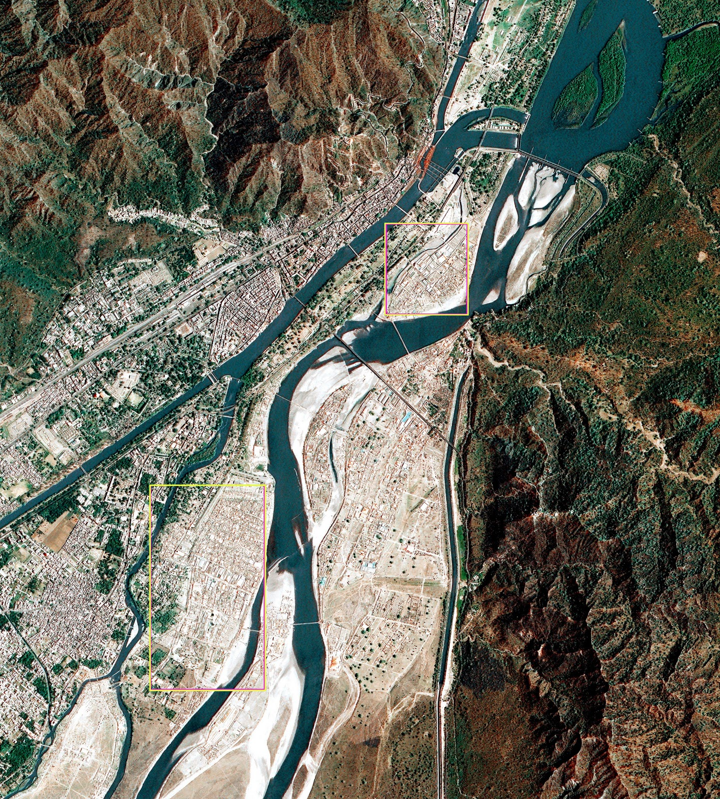 Satellite Image of Kumbh Mela 2010