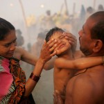 Mother and Son at Kumbh Mela