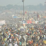 Devotees entering into kumbh mela area