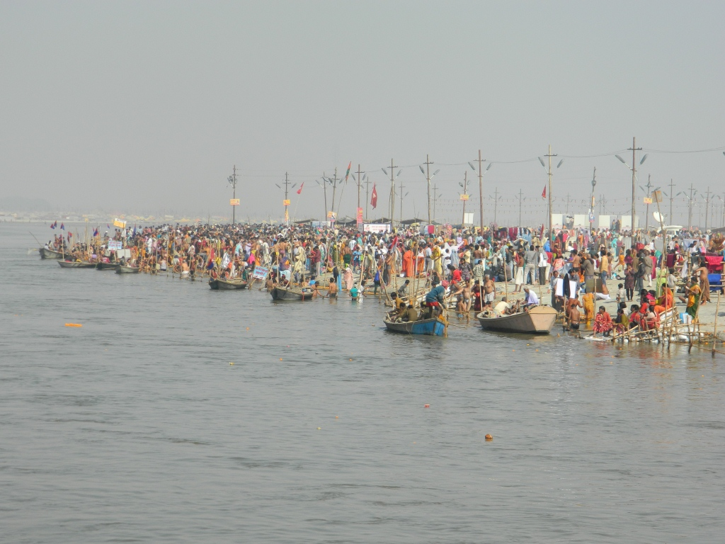 Taking bath at the banks of mother ganga