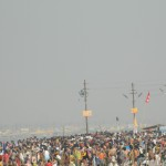 At the banks of mother ganga in kumbh mela 2013